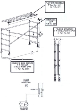 Rental store for 6  ALUMINUM INDOOR SCAFFOLD in Watsonville CA