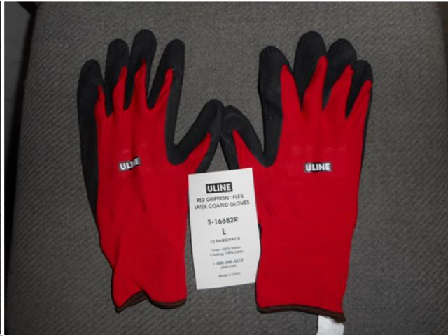 Where to find CLOTH LATEX COATED GLOVES  L in Watsonville
