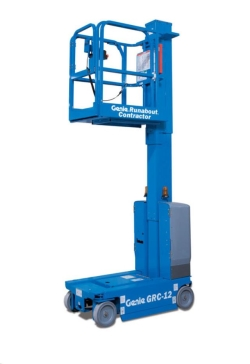 Rental store for 12  ELECTRIC VERTICAL MAST LIFT RUNABOUT in Watsonville CA